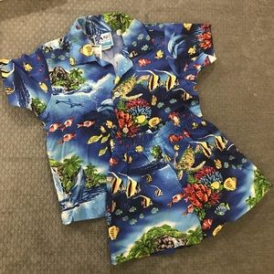 Other - 2/$20! Hawaiian Boys outfit, 3T